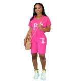 Q060514-1 Cassual Women Solid Color With Pocket 2 Pcs Track Suit Outfits Two Piece Short Set