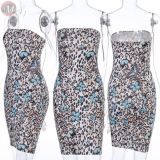 0061101 Best Seller Strapless Summer New 2020 Dresses Women Sexy Tube Slimming Wholesale Printed Short Mini Casual Dresses