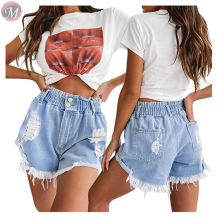 0061606 Fashion casual Summer Women denim pants Female Bottoms Ladies Trousers Denim Shorts ripped jeans