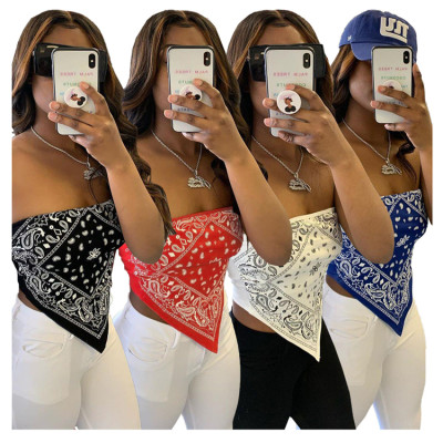 0060302 Latest Design Casual Fashioanal Summer Strapless Wrap Chest Tank Top Women All-Match Short Crop Tops
