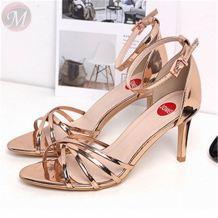 0270476 2020 New design fashion summer stiletto Contracted joker large size wholesale sandal