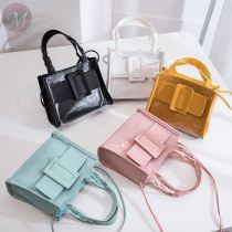 2020 Hot sale transparent pvc see through mini purse hand bag plastic leather ladies designer handbags