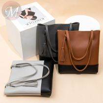 2020 New style european fashion cheap handbag pu leather shoulder bags ladies bucket handbags