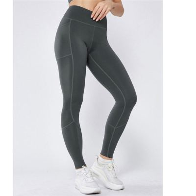 Fashion Women Elastic High Waist Yoga Pants Non See-through Fitness Leggings With Inner Pocket