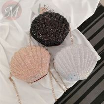 New 2020 Cross Body Bags Seashell Design Cute Sequins Mini Chain Shoulder Bags For Lady And Girls