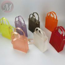 New Crossbody Bags PVC transparent Handbags For Women Jelly Small Square Bags Lager Capacity Tote Bags