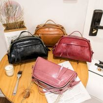 2020 Classic PU Leather Tank Shoulder Bag Punk Small Zipper Motorcycle Side Bags for Women Ladies