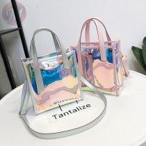 Summer transparent bag 2020 new fashion Korean laser shoulder bag pvc jelly handbag for women