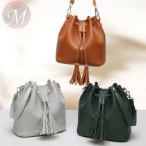 2020 Vintage Women PU Leather String Bag Leisure Shoulder Bags Cheap Crossbody Bag Small Handbags