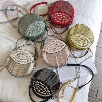 Trendy Luxury Handbags chain Women Zipper Bags Designer leather circle sling bag crossbody women