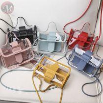 2020 Fashion girls PVC bag cross body bags candy color shoulder bags designer girls purse handbag