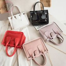 Best price Popular PVC transport crossbody hand bag women in summer with mini leather pocket and chain handle for girls