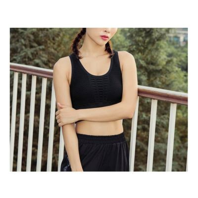 New fashion sexy mesh breathable yoga bra with built in bra for Fitness gym