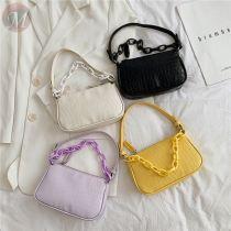 Fashion casual vintage woman bag Baguette shoulder bag baguette shoulder bag with chain handle