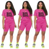 Best seller fashion casual sports suit letter print Sexy 2 Pcs Track Suit Outfits Two Piece Shorts Set Women Clothing