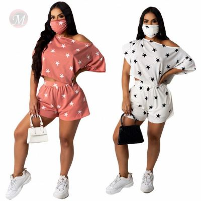 Hot Sell Print Casual Summer Sexy Matching Sets 2 Pcs Outfits Two Piece Short Set