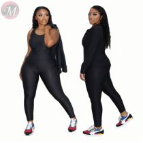 Latest design zipper fly fashion sexy 3 Pcs Track Suit Outfits Three Piece Set Women Clothing For Women