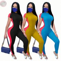 Design fashion casual patchwork high elastic Sexy Jump Suit Basic Bodysuits Women One Piece Jumpsuits And Rompers