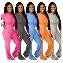 New Style 2020 Ladies Wholesale Custom Solid Color Casual Draped Jump Suit Women One Piece Jumpsuits And Rompers
