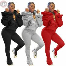Newest design fashion solid color backless 2 Pcs Track Suit Outfits Two Piece Set Women Clothing For Women