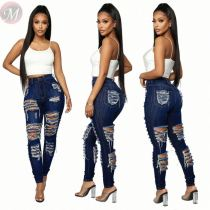 High quality 2020 fashion casual sexy hole Women Female Bottoms Ladies Trousers Jeans Pants