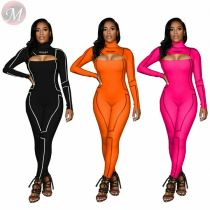 Good quality fashion casual hollow out Jump Suit Basic Bodysuits Women One Piece Jumpsuits And Rompers