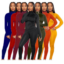 Autumn And Winter Solid Color Long Sleeve Track Suit Outfits Women Two Piece Set Clothing Sweat Suits Women 2 Piece Set