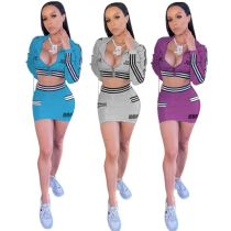 Wholesale Fashion Sports Short Skirt Suit Sexy 2 Pcs Dress Outfits Skirt And Hooded Top Two Piece Set Women Clothing