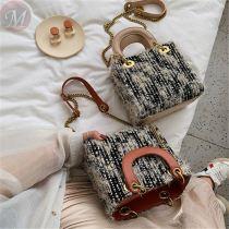 Hot sale fashion casual women handbags lady bag simple style chain crossbody shoulder bag