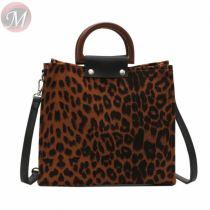 Fashion 2020 Casual All Match Soft Leather Leopard Pattern Woman Shoulder Bag Handbag Shoulder Bag