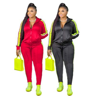 2020 Fall And Winter New Splice Casual Sports Suit Jogging Suit Women 2 Piece Pants Set Track Suit Outfits Two Piece Set