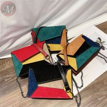 Female Chain Strap Shoulder Bag Fashion Ladies' Flap Bag Leather Patchwork Women Messenger Bag