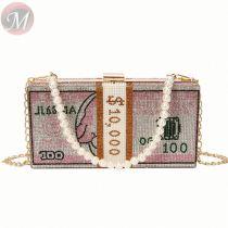 2020 New Arrival Trending Fashion Casual Bling Diamond Rhinestone Clutch Purse Money Bag