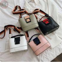 Fashion Lady Handbag With Colored Shoulder Band Women Shoulder Bags Custom Logo Crossbody Bag