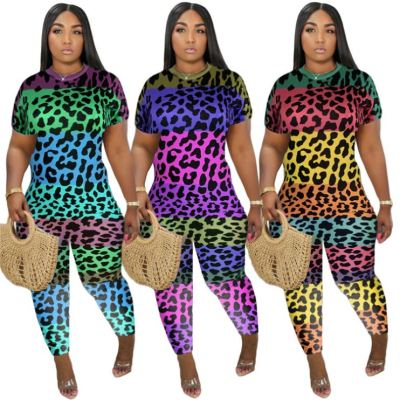 Best Design Leopard Print Short Sleeve Fat Lady Bodycon Jumpsuit Women Plus Size One Piece Jumpsuits And Rompers