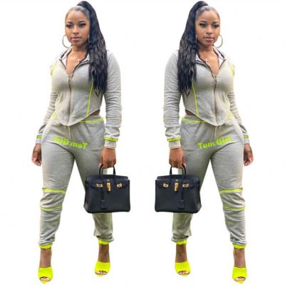 Fashion Casual Hooded Cardigan Sports Suit Women 2 Piece Pants Set Track Suit Outfits Two Piece Set Women Clothing