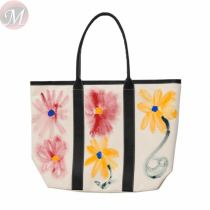 2020 new wave niche flower graffiti large capacity canvas bag shoulder portable tote female bag