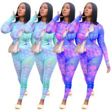 2020 Autumn Fashion Printing Top And Pants Casual 2 Pcs Track Suit Outfits Two Piece Set Women Clothing For Women