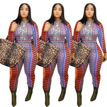 2020 Wholesale Custom Fashion Print Fitness Jump Suit Bodycon Sexy Women One Piece Jumpsuits And Rompers For Woman