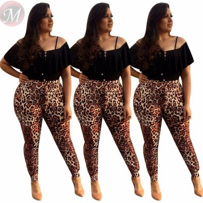 Fashion New 2020 Casual All Match Large Size Leopard Print Women Female Bottoms Ladies Trousers Pants