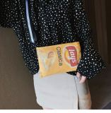 Wholesale 2020 New Fashion Canvas Bag Ladies Personality Potato Chip Printing Shoulder Messenger Bag