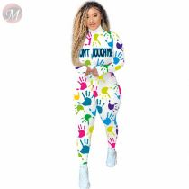 New Sexy Fall Casual Fashion Print Zipper Jump Suit Basic Bodysuits Women One Piece Jumpsuits And Rompers For Woman