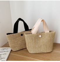 Handbags Casual Rattan Women Straw Bags Wicker Woven Female Totes Large Capacity Lady Buckets Bag 2020
