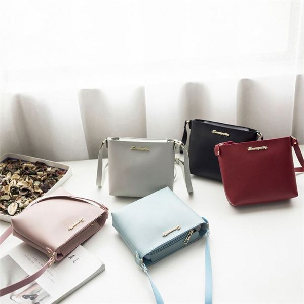 2020 Fashion Womens Casual All Match Solid Color Zipper Shoulder Bag Crossbody Messenger Shoulder Girl Bag
