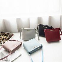 2020 Fashion Womens Casual All Match Solid Color Zipper Shoulder Bag Crossbody Messenger Shoulder Girl Bag
