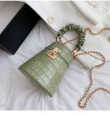 2020 New Design Fashion Crocodile Print Bucket Bag Chain Crossbody Handbags Leather Small Shoulder Bag