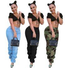Best Seller Fashion Streetwear 3 Colors Mid Waist Denim Pants Women Female Bottoms Ladies Trousers Jeans Pants