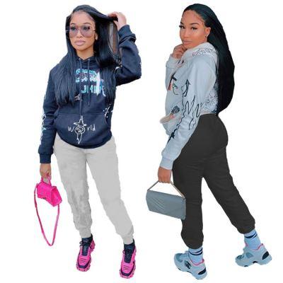 Best Seller 2020 Fall And Winter New Casual Women Pullover Hoodies Cartoon Print Women Tops Hoodies