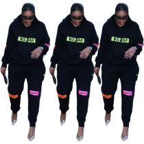 Best Seller 2020 Fall New Long Sleeve Hooded Sports Suit 2 Pcs Track Suit Outfits Two Piece Set Women Clothing For Women