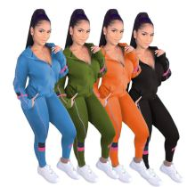 2020 Fall New Fashion Casual Sports Suit Jogging Suit Women 2 Piece Set Track Suit Outfits Two Piece Set Women Clothing